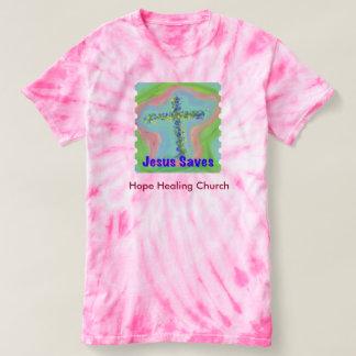 Camiseta T-shirt cristão da Laço-Tintura da igreja cura da