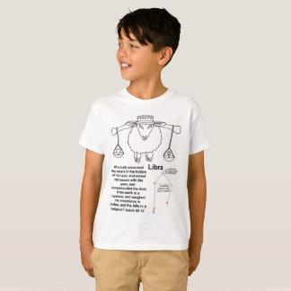 Camiseta T-shirt cristão da profecia do Libra (miúdos)
