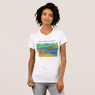 Camiseta T-shirt cristão de acampamento da igreja cura da