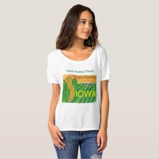Camiseta T-shirt cristão de Iowa Bella da igreja cura da