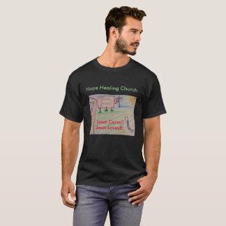 Camiseta T-shirt cristão de Jesus da igreja cura da