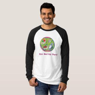 Camiseta T-shirt cristão do Raglan da igreja cura da