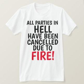 Camiseta T-shirt cristãos, TODOS OS PARTIDOS no INFERNO