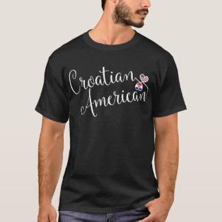 Camiseta T-shirt croata dos corações de Entwinted do