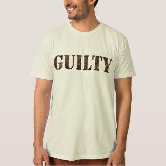 Camiseta T-shirt CULPADO com design da impressão digital