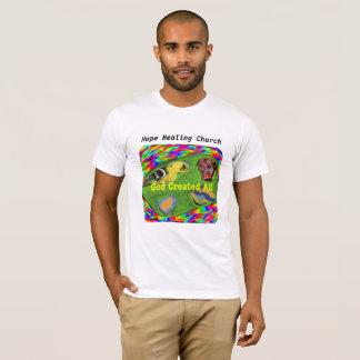 Camiseta T-shirt cura de Jesus da criação do deus da igreja