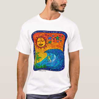 Camiseta T-shirt curto básico da luva dos homens