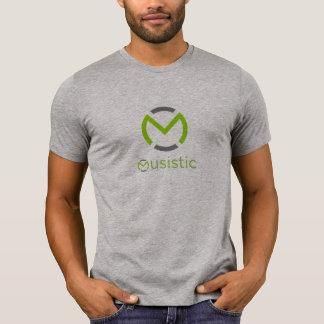 Camiseta T-shirt curto da luva de Musistic - cinza da urze