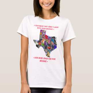 Camiseta T-shirt customizável colorido de Texas -