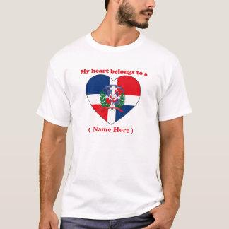 Camiseta T-shirt customizável da República Dominicana