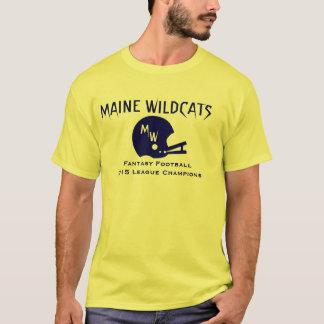 Camiseta T-shirt customizável do campeonato do futebol da