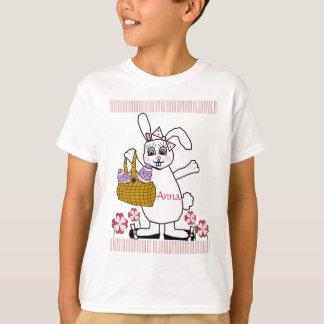 Camiseta T-shirt customizável do coelhinho da Páscoa da