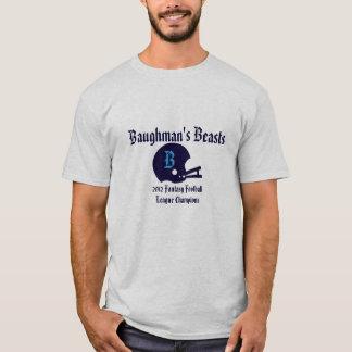 Camiseta T-shirt customizável do futebol da fantasia