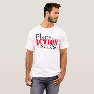 Camiseta T-shirt da ação do plano