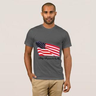 Camiseta T-shirt da americana da bandeira da fidelidade da