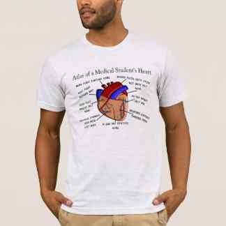 Camiseta T-shirt da anatomia do coração da estudante de