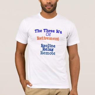 Camiseta T-shirt da aposentadoria os três r da