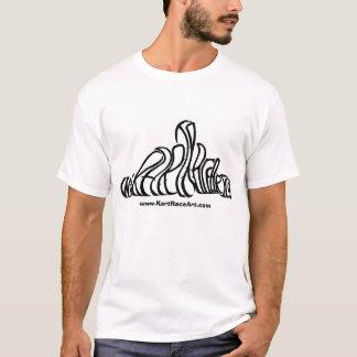 Camiseta T-shirt da arte da raça de Kart