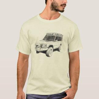 Camiseta T-shirt da arte do caminhão de Land Rover