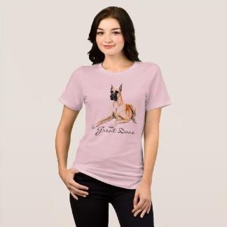 Camiseta T-shirt da arte do cão de great dane