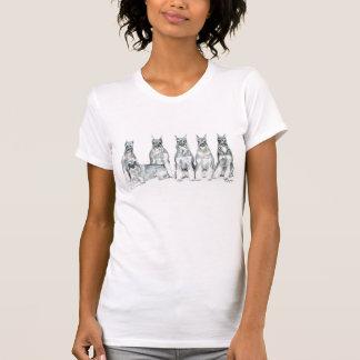 Camiseta T-shirt da arte do cão do Schnauzer padrão