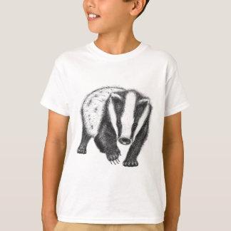 Camiseta T-shirt da arte do texugo dos miúdos