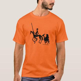 Camiseta T-shirt da arte gráfica de Don Quixote e de Sancho