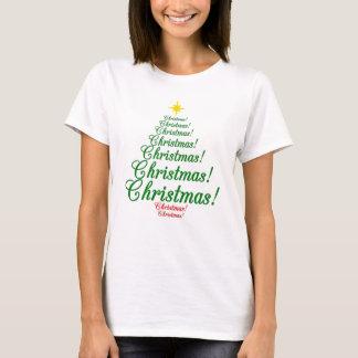 Camiseta T-shirt da árvore de Natal