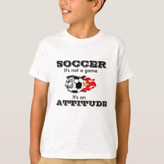Camiseta T-shirt da atitude do futebol para miúdos