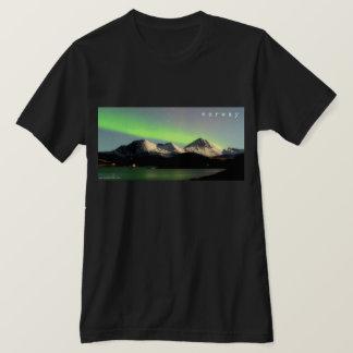 Camiseta T-shirt da aurora boreal de Noruega