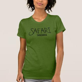 Camiseta T-shirt da azeitona de Tanzânia do safari