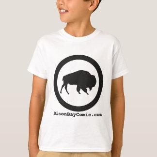 Camiseta T-shirt da baía do bisonte dos miúdos, branco
