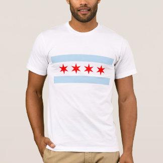 Camiseta T-shirt da bandeira da Chicago dos homens
