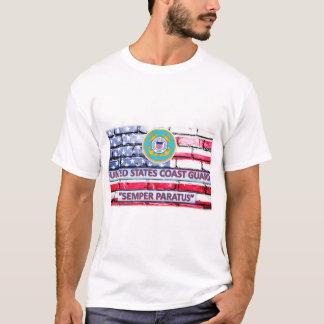Camiseta T-shirt da bandeira da divisa de Semper Paratus da