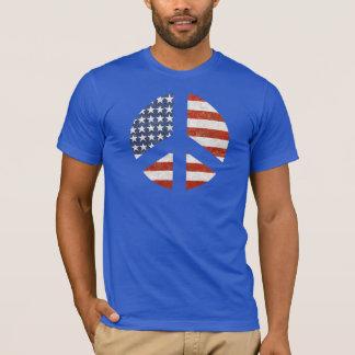 Camiseta T-shirt da bandeira da paz - sinal de paz da