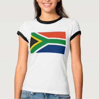 Camiseta T-shirt da bandeira de África do Sul