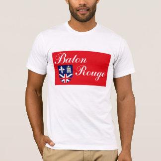 Camiseta T-shirt da bandeira de Baton Rouge