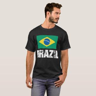 Camiseta T-shirt da bandeira de Brasil para homens e