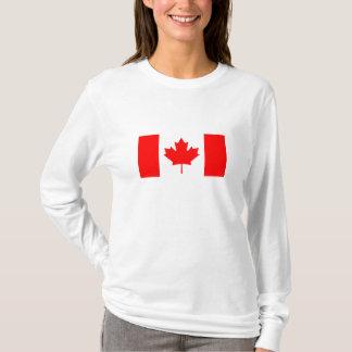 Camiseta t-shirt da bandeira de Canadá