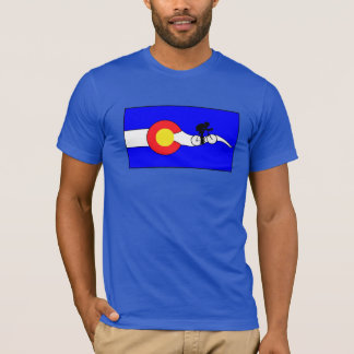 Camiseta T-shirt da bandeira de Colorado da bicicleta dos