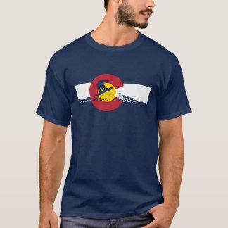 Camiseta T-shirt da bandeira de Colorado - Snowboarder -
