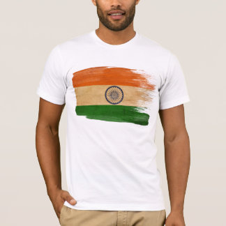 Camiseta T-shirt da bandeira de India