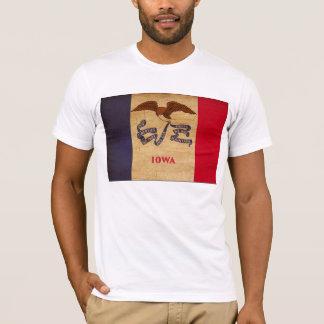 Camiseta T-shirt da bandeira de Iowa