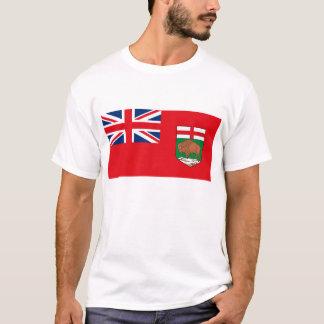 Camiseta T-shirt da bandeira de Manitoba