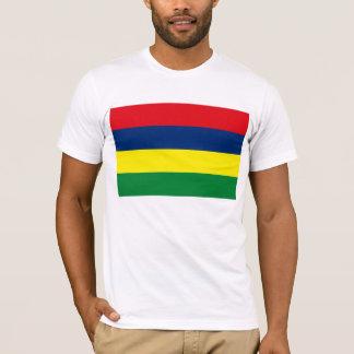 Camiseta T-shirt da bandeira de Maurícia