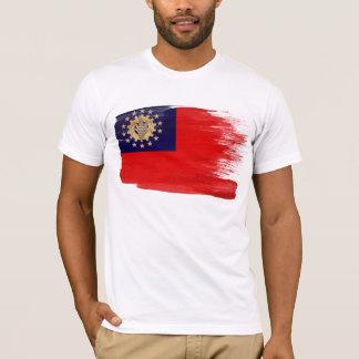 Camiseta T-shirt da bandeira de Myanmar