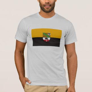 Camiseta T-shirt da bandeira de Sachsen Anhalt