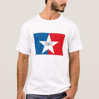 Camiseta T-shirt da bandeira de San Antonio