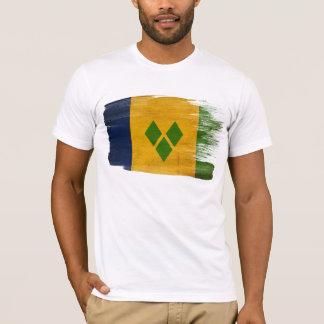 Camiseta T-shirt da bandeira de São Vicente e Granadinas