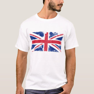 Camiseta T-shirt da bandeira de Union Jack do Grunge